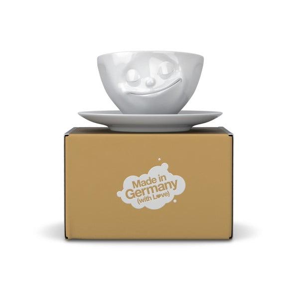 Fehér 'boldog' kávéscsésze, 200 ml - 58products