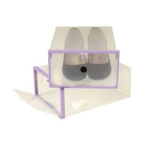 2 darab lila szegélyű cipősdoboz, 28 x 20,7 cm - JOCCA