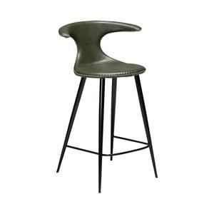Tmavě zelená barová židle z eko kůže DAN–FORM Denmark Flair