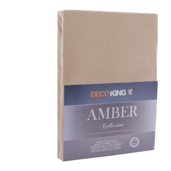Amber Collection Cappuccino barna lepedő, 160-180 x 200 cm - DecoKing