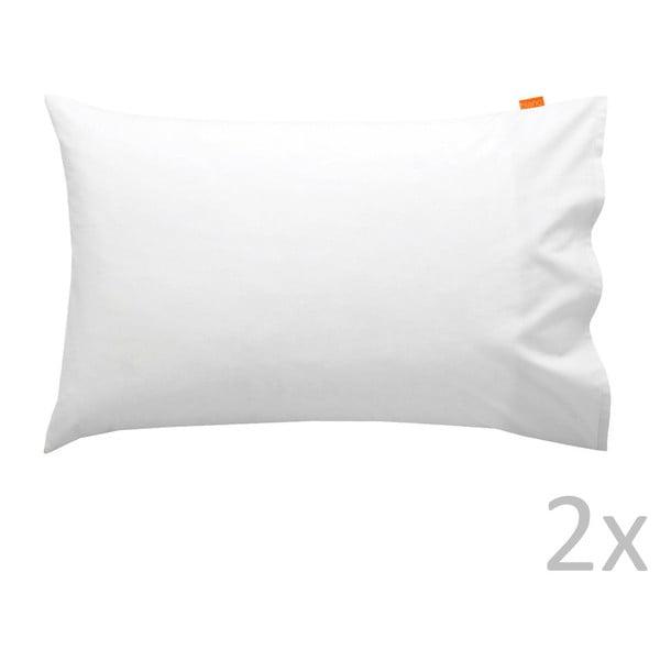 2 darabos fehér pamut párnahuzat szett, 50 x 75 cm