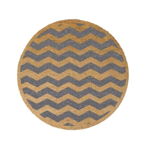 Grey Chevron kerek lábtörlő, ⌀ 70 cm - Artsy Doormats