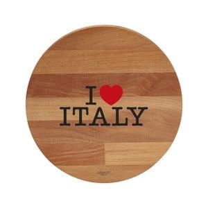 I Love Italy bükkfa tálalódeszka/vágódeszka, 30 cm - Bisetti