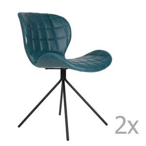 OMG LL kék szék, 2 db - Zuiver