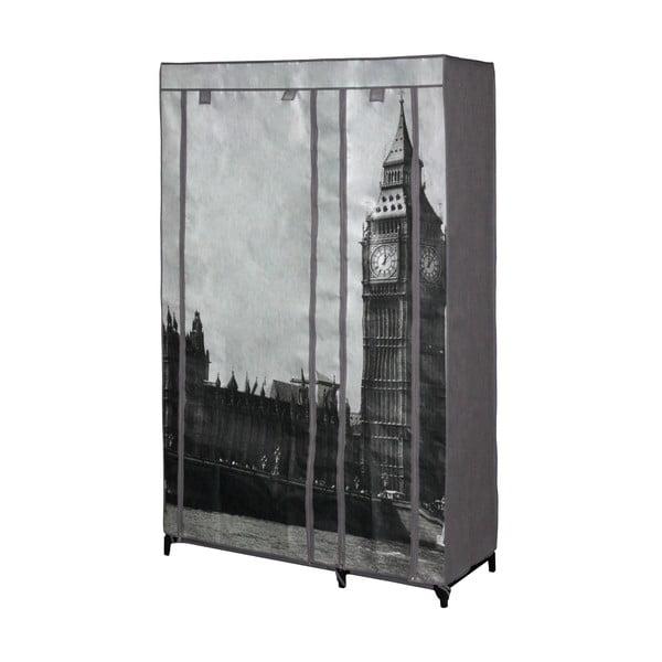 London szürke ruhatároló szövetszekrény, 160 x 105 cm - JOCCA