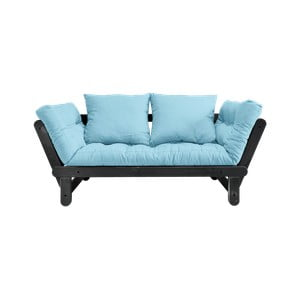 Beat Black/Light Blue kinyitható kanapé - Karup Design
