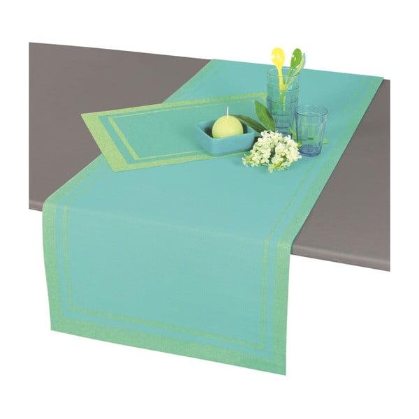 Türkizkék asztali futó, 140 x 46 cm - Antic Line