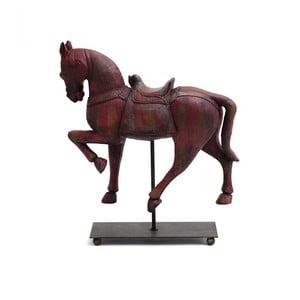 Vörös dekorációs ló fából - Ego Dekor