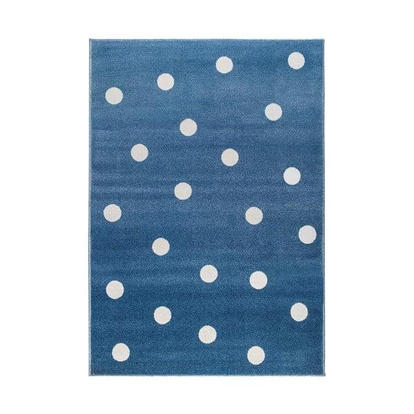 Peas kék, pöttyös szőnyeg, 80 x 150 cm - KICOTI