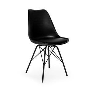 Eco fekete szék, fekete fémlábakkal - loomi.design