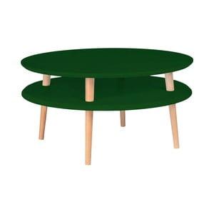 Tmavě zelený konferenční stolek Ragaba Ufo, ⌀70cm