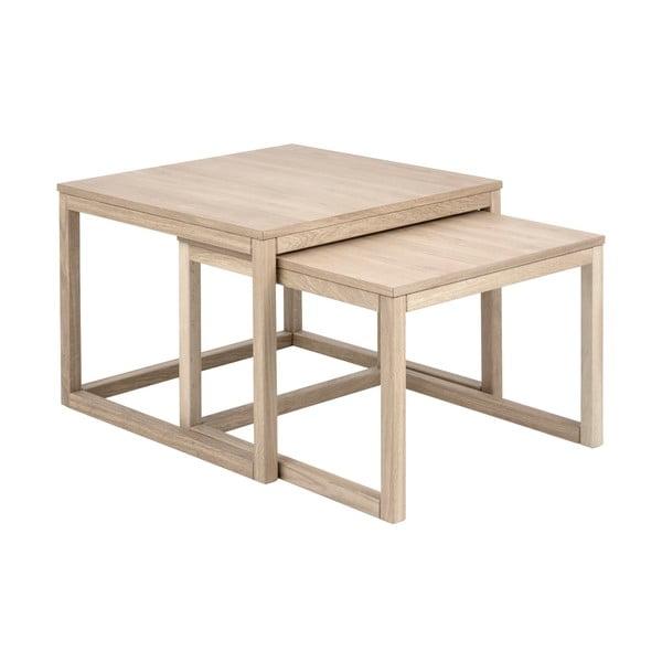 Coffee Cornus dohányzóasztal tölgyfa lábszerkezettel - Actona