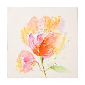 Fiore kézzel festett kép, 80 x 80 cm - Mauro Ferretti