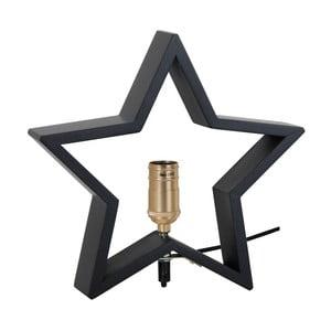 Černá dřevěná svítící hvězda Best Season Lysekil, 30 x 29 cm