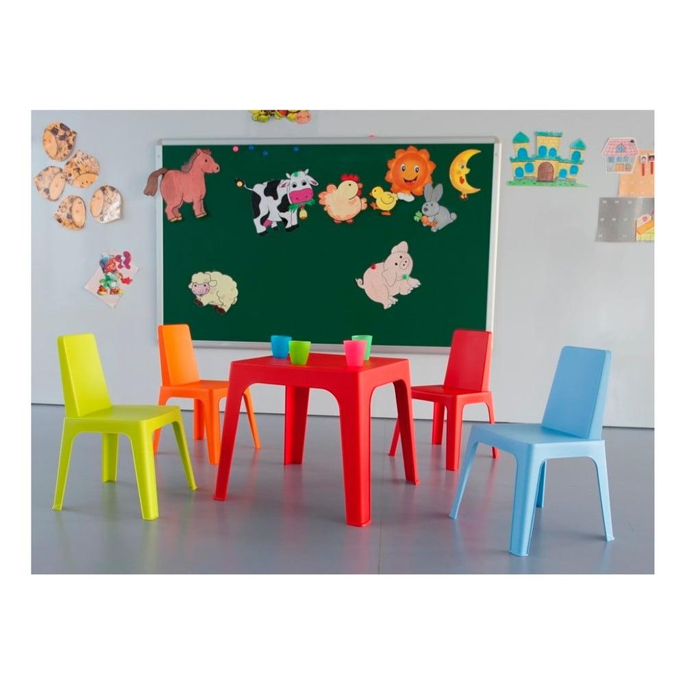 Julieta rózsaszín gyerek kerti bútor garnitúra, 1 asztal és 2 szék Resol