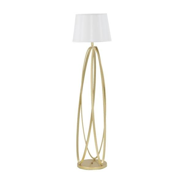 Circle fehér állólámpa aranyszínű lámpatesttel - Mauro Ferretti