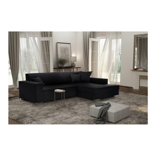 Perle fekete kanapé, jobb oldalas - Interieur De Famille Paris