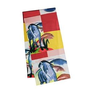 Blue Horse selyem szatén kendő - Von Lilienfeld