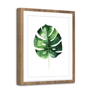 Modernpik Greenery Wooden Monstera falikép, 30 x 40 cm - Styler