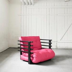 Funk Black/Magenta széthúzható fotel - Karup