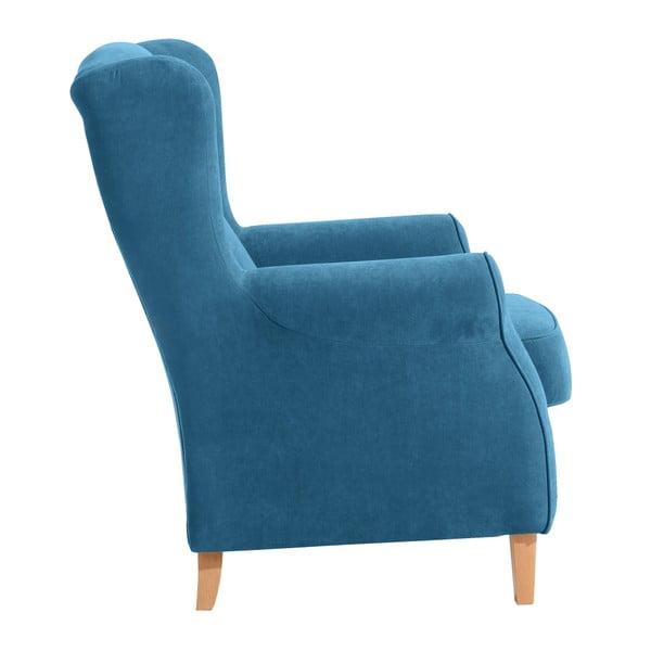 Lorris petróleum kék füles fotel - Max Winzer