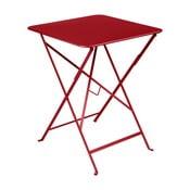 Bistro piros kerti asztalka, 57 x 57 cm - Fermob
