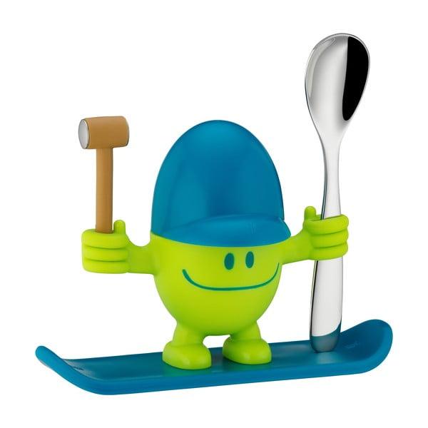 Cromargan® Mc Egg zöld tojástartó kiskanállal - WMF