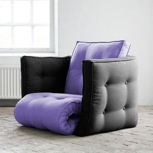 Dice Violet/Gray kinyitható fotel - Karup