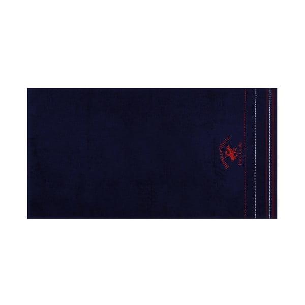 Polo Club kék kéztörlő szett, 2 darabos