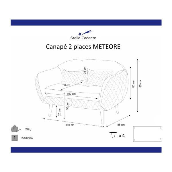 Meteore lila kétszemélyes kanapé - Scandi by Stella Cadente Maison