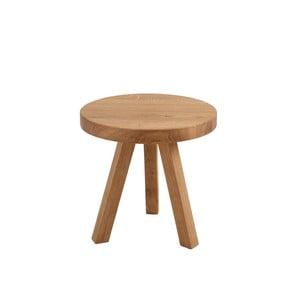 Treben tölgyfa tárolóasztal, ø 40 cm - Custom Form