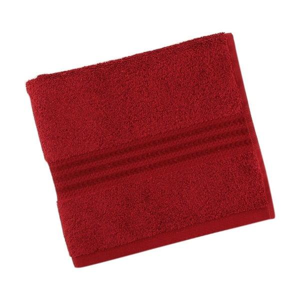 Rainbow Red piros pamut törölköző, 30 x 50 cm