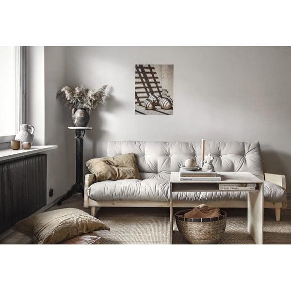 Indie Natural Clear/Beige kinyitható kanapé - Karup Design