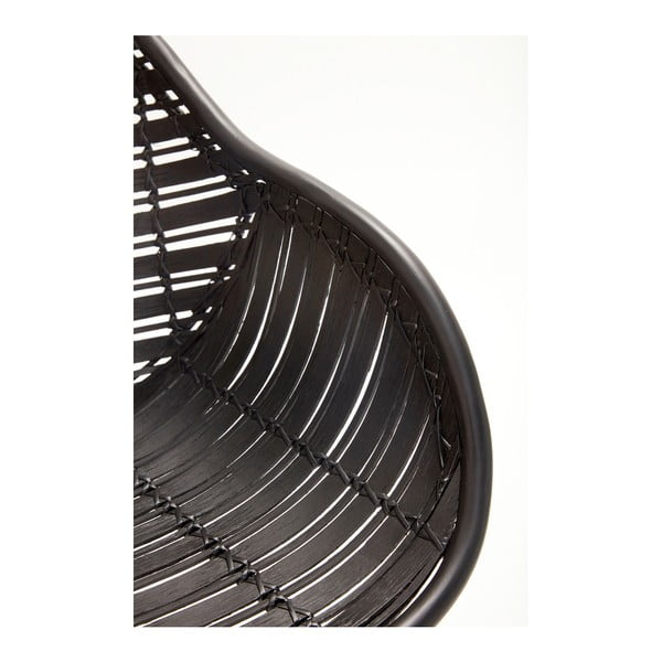 Retto Misso fekete rattan fotel - Hübsch