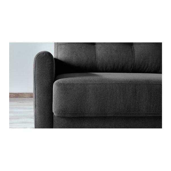 Balio Enjoy sötétszürke háromszemélyes kinyitható kanapé - Bobochic Paris