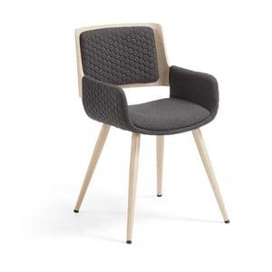 Andre sötétszürke szék fa lábakkal - La Forma