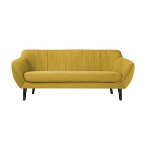 Žlutá pohovka pro tři Mazzini Sofas Toscane, černénohy