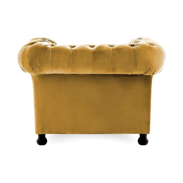 Chesterfield sötétsárga fotel - Vivonita