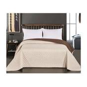Axel bézs-barna kétoldalas mikroszálas ágytakaró, 260 x 280 cm - DecoKing