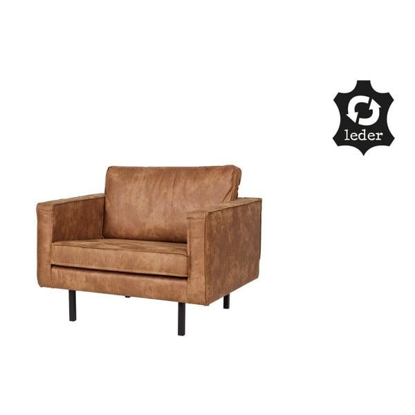 Rodeo barna fotel újrahasznosított bőrből - BePureHome