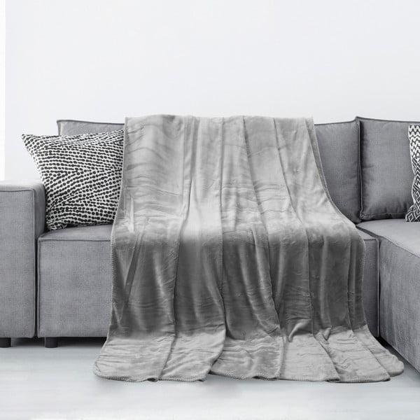 Tyler szürke mikroszálas takaró, 170 x 200 cm - AmeliaHome