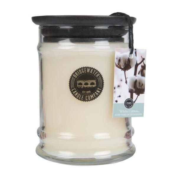 Gyapot illatú gyertya üveg tartóban, égési idő 65-85 óra - Creative Tops