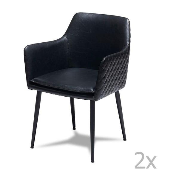 Shiva 2 db-os fekete székkészlet - Furnhouse