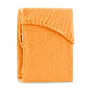 Ruby Orange narancssárga kétszemélyes gumis lepedő, 200-220 x 200 cm - AmeliaHome