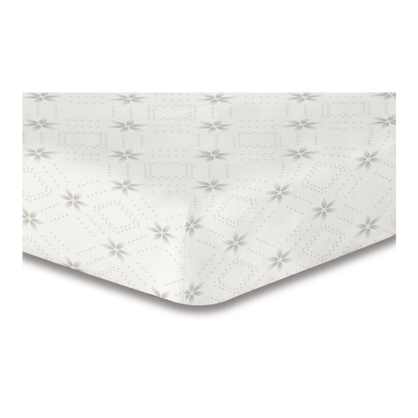 Hypnosis Snowynight fehér mikroszálas gumis lepedő, 120 x 200 cm - DecoKing