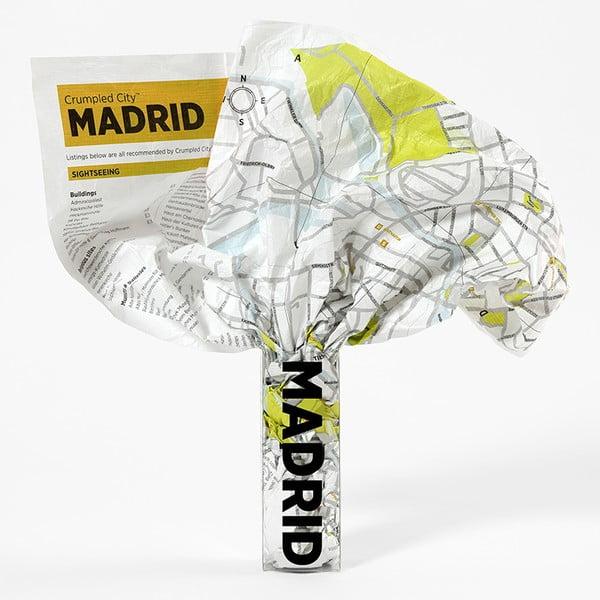 Madrid gyűrhető turista térkép - Palomar