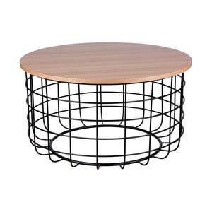 Celso barna-fekete dohányzóasztal, ø 80 cm - sømcasa
