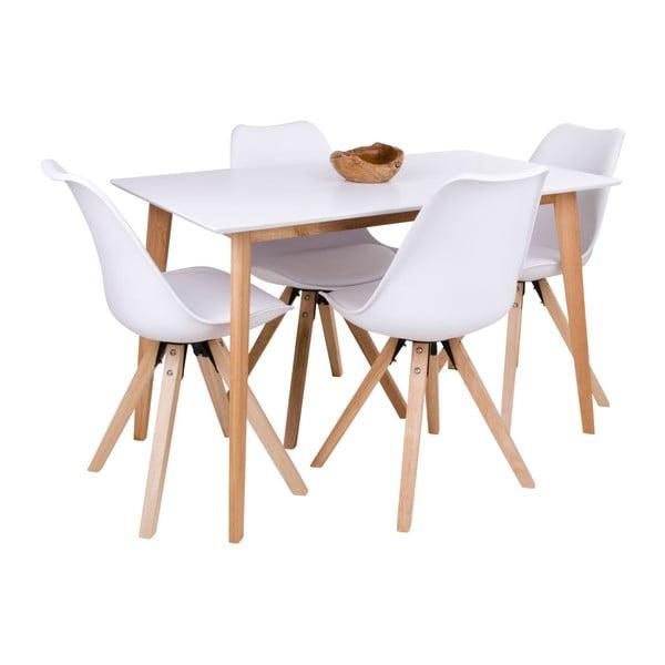 Vojens étkezőasztal fehér asztallappal - loomi.design