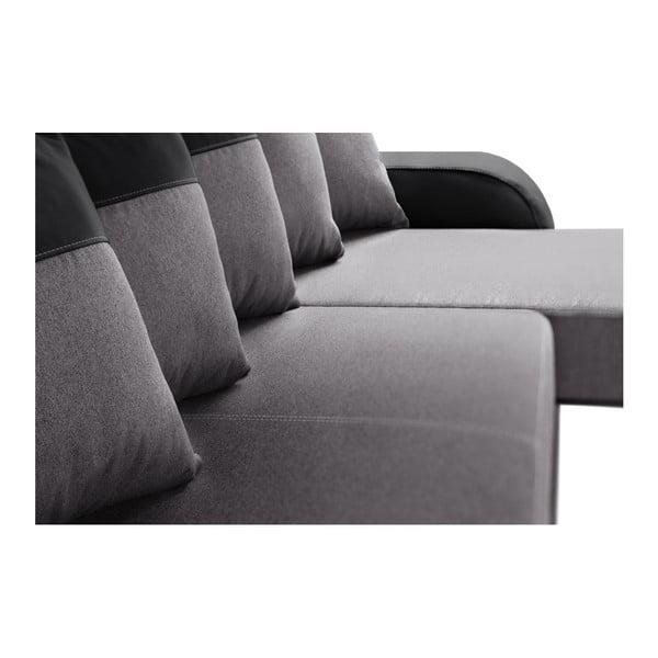 Destin fekete-szürke kanapé, jobb oldalas - Interieur De Famille Paris
