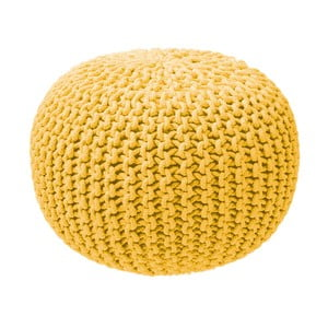 Mustársárga színű kötött puff - ZicZac